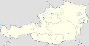 Map of Oberösterreich with markings for the individual supporters