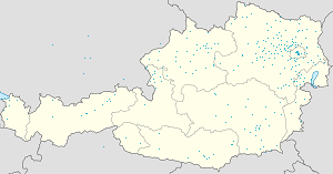 Map of Niederösterreich with markings for the individual supporters
