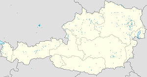 Map of Österreich with markings for the individual supporters