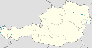 Map of Feldkirch with markings for the individual supporters
