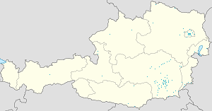 Map of Graz with markings for the individual supporters