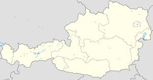Map of Innsbruck with markings for the individual supporters