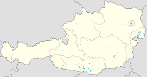 Map of Villach (Stadt) with markings for the individual supporters