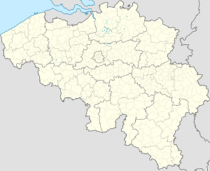 Map of Antwerp with markings for the individual supporters