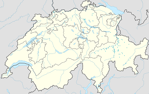 Map of Graubünden with markings for the individual supporters