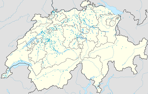 Map of canton of Bern with markings for the individual supporters
