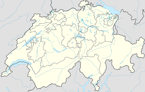 Map of St. Gallen with markings for the individual supporters