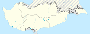 Map of Cyprus with markings for the individual supporters