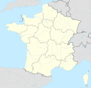 Map of France with markings for the individual supporters