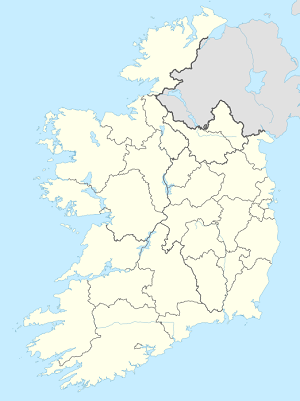 Map of Ireland with markings for the individual supporters