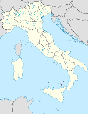 Map of Italy with markings for the individual supporters