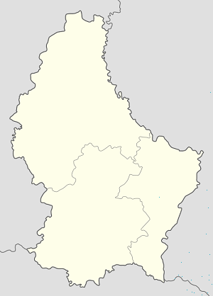 Map of Dudelange with markings for the individual supporters