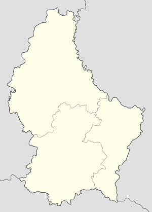 Map of Canton of Esch-sur-Alzette with markings for the individual supporters