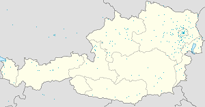 Map of Wien with markings for the individual supporters