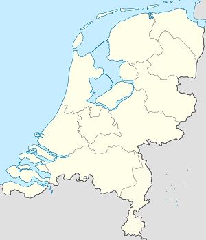 Map of Kingdom of the Netherlands with markings for the individual supporters