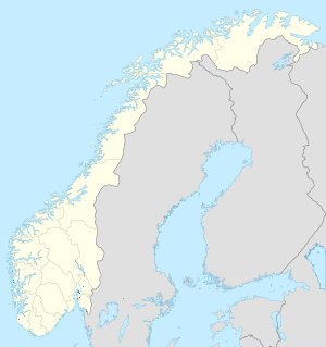 Map of Norway with markings for the individual supporters