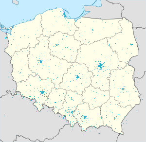 Map of Poland with markings for the individual supporters